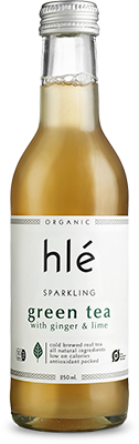 hlé sparkling green tea with ginger & lime